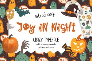 Joy in Night - Halloween Typeface