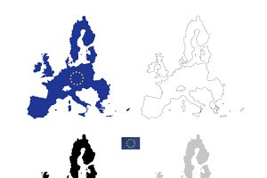 European Union black silhouette