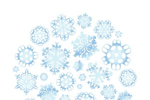 Snowflakes in circle shape