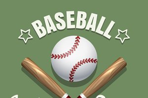 Baseball game team emblem