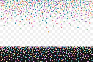 Falling confetti pattern