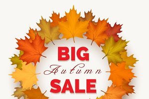 Big autumn sale wreath label