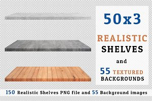 Realistic Shelves & Background Set3