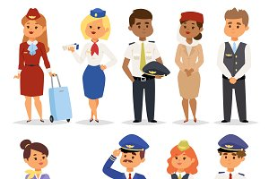 Vector pilots flight attendants