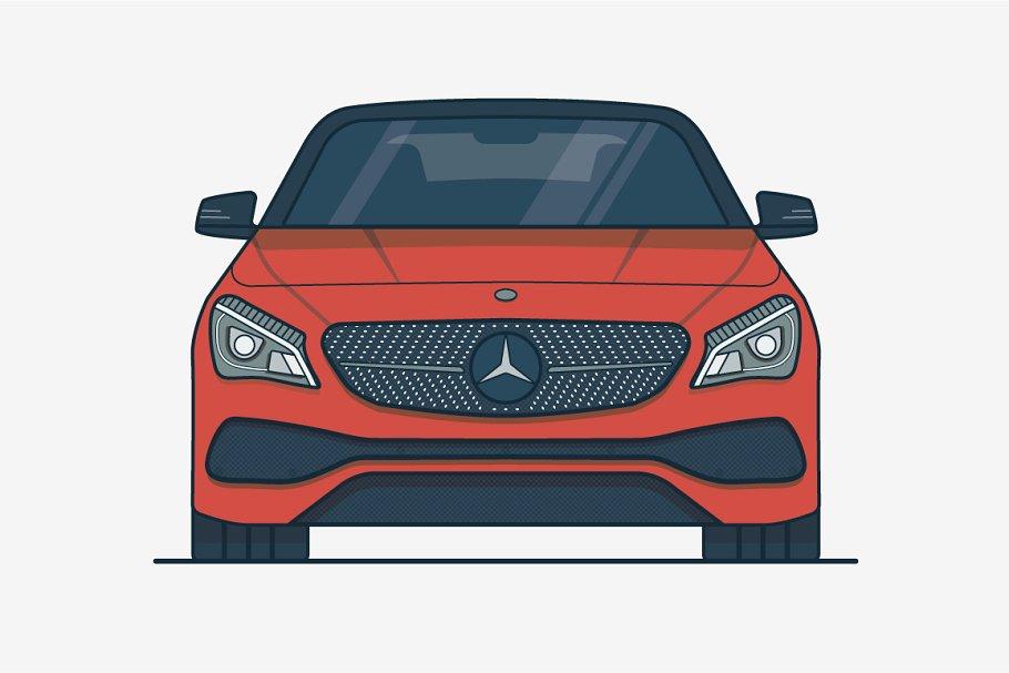 Mercedes Benz Car Illustrations Creative Market