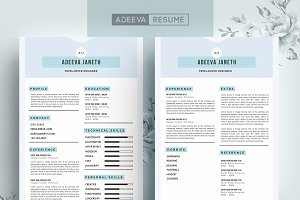 Simple Resume Template Janeth