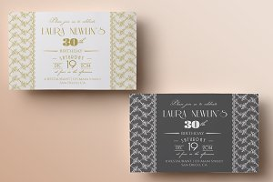 Lace Birthday Invitation