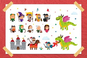 Fantasy Fairy Tale Clipart kit II