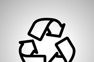 Recycling simple black icon