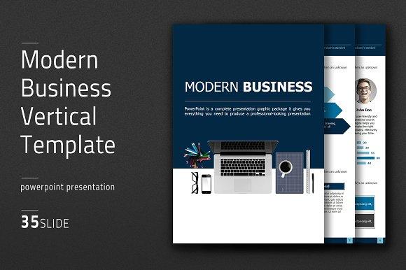 Modern Business Vertical Template in Presentation Templates