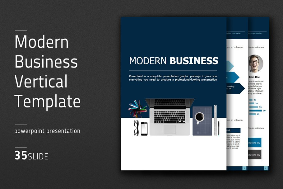 Modern Business Vertical Template in PowerPoint Templates - product preview 8