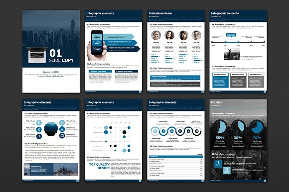 Modern Business Vertical Template in Presentation Templates - product preview 1