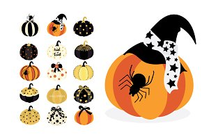HAPPY HALLOWEEN HAND DRAWN VECTOR II