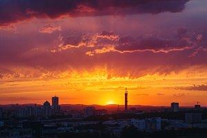 Epic Dramatic Sunset Sky