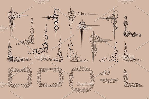 Vector frame and corners in Objects - product preview 3