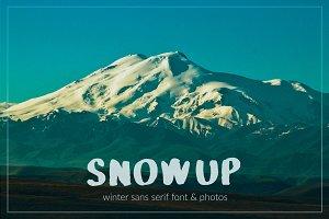 SnowUP Brush Font