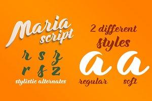 Maria Script Font Family