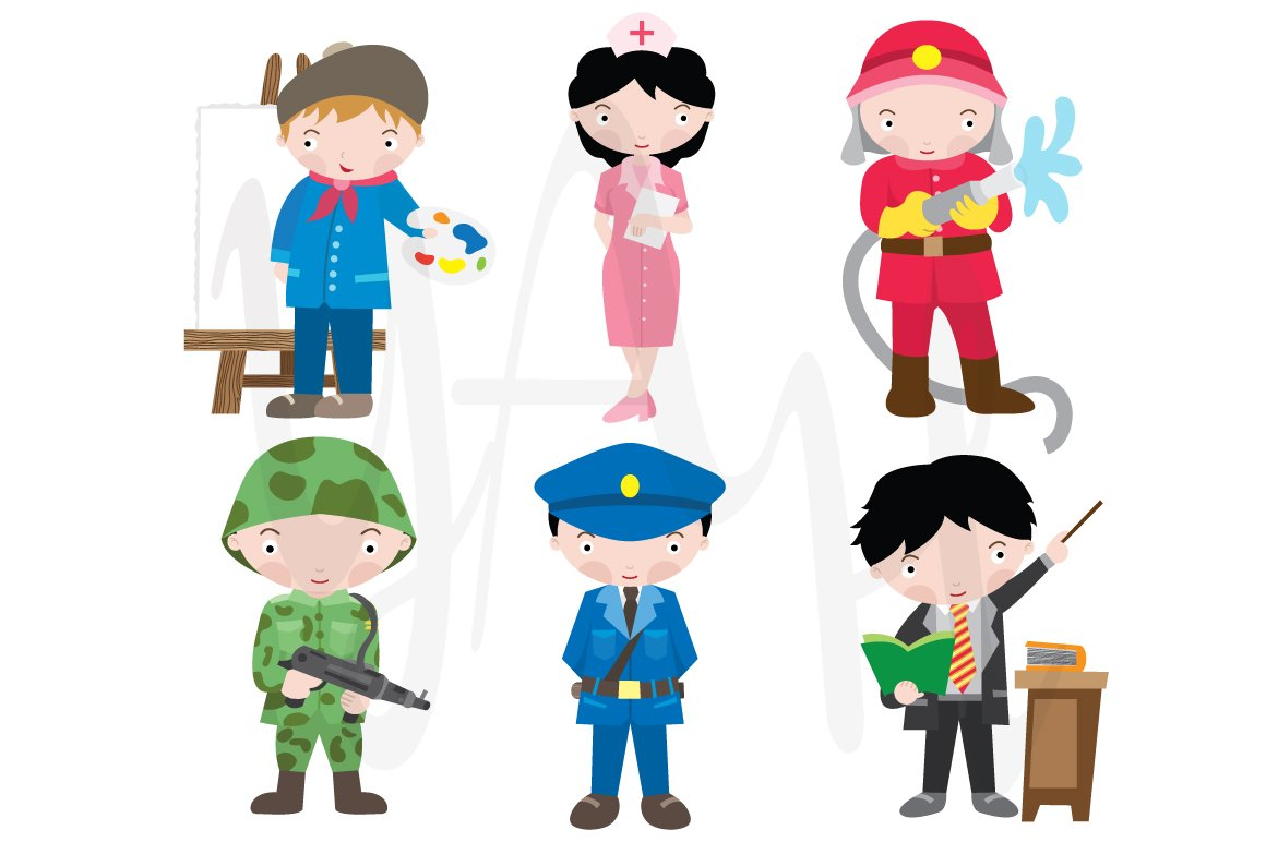 Occupations clip art illustrations creative market for Arts and craft jobs