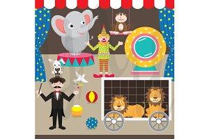 Circus Clip Art Set