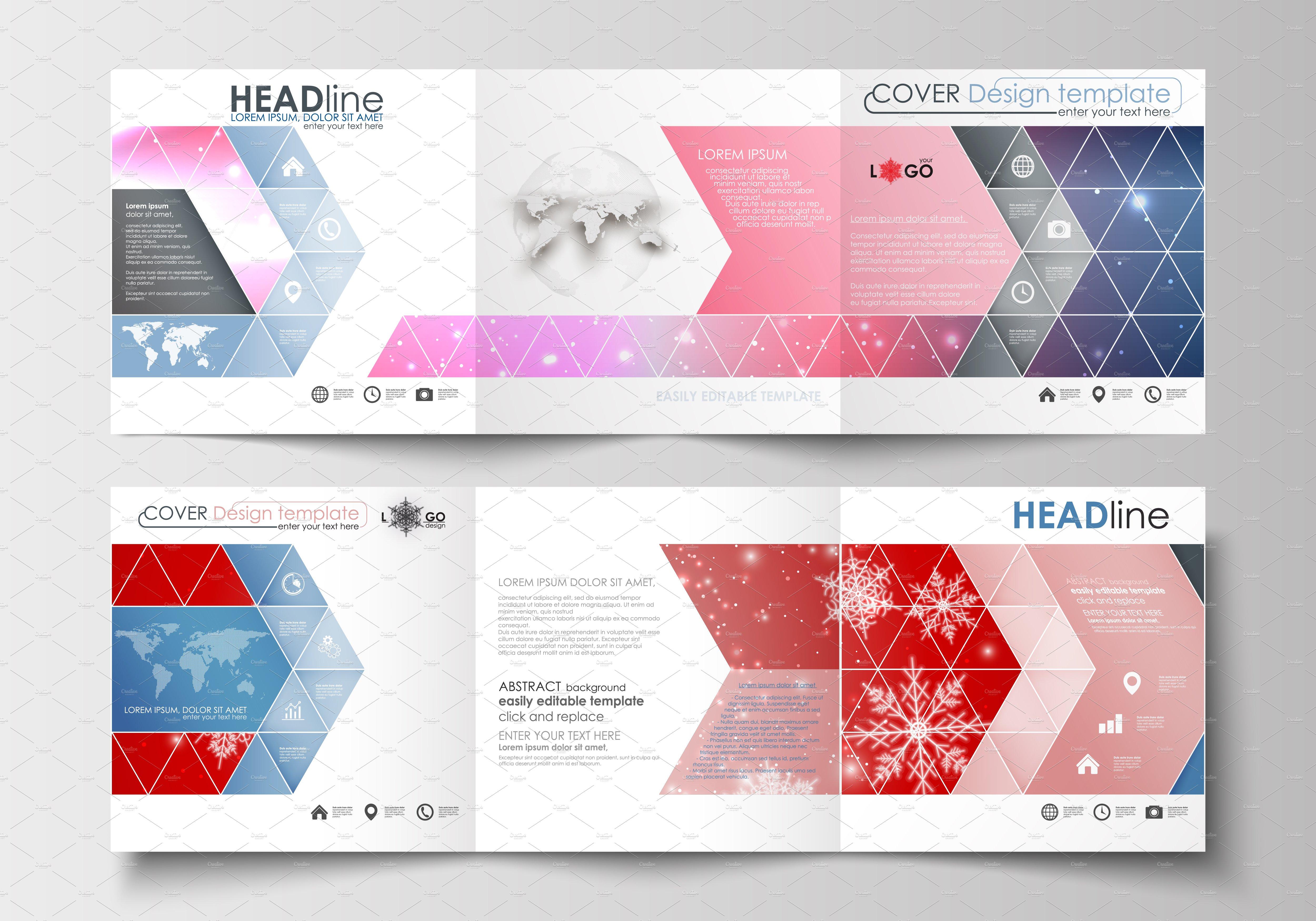 Flat design templates v.6 ~ Brochure Templates ~ Creative Market