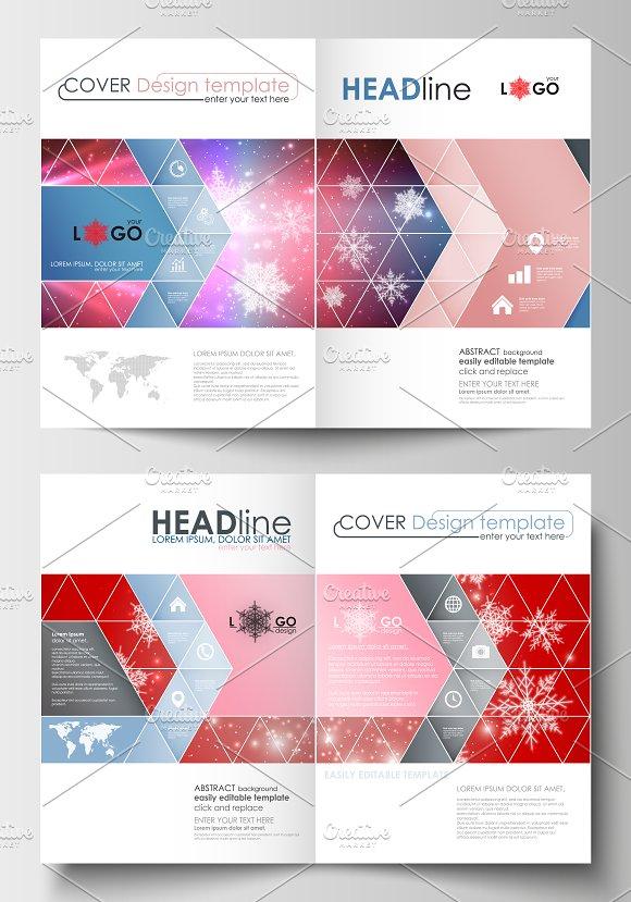 Flat Design Templates V6 Brochure Templates Creative Market