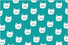 Cat face pattern
