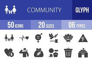 50 Community Glyph Icons
