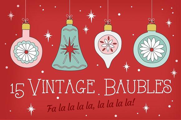 Vintage Christmas Decorations Illustrations Creative Market