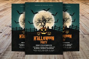 Vintage Halloween Party Flyer V2