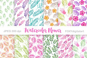 Watercolor Flower Digital Paper