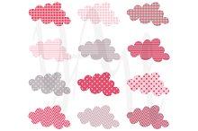 Cute Cloud Pattern Design Set