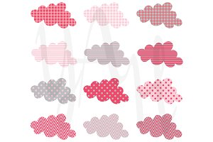 Cute Cloud Pattern Design Set