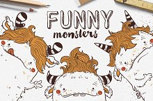 Funny Monsters • Vector Set