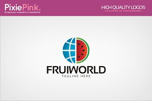 Fruit World Logo Template