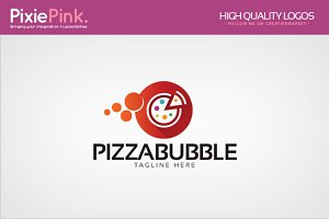 Pizza Bubble Logo Template