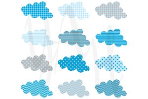 Baby Cloud Pattern Clip Art