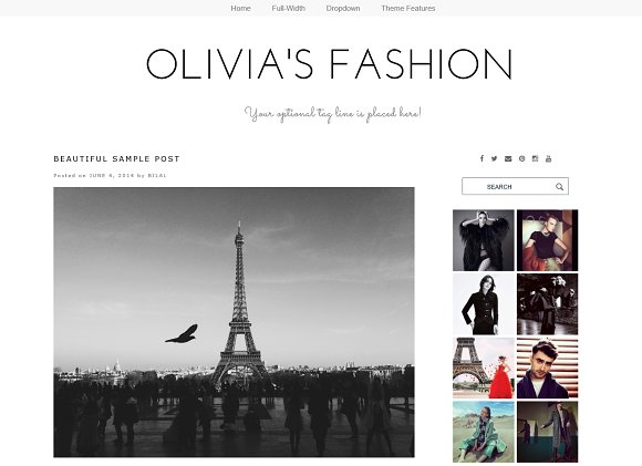 WordPress Theme - Olivia\'s Fashion ~ WordPress Blog Themes ...