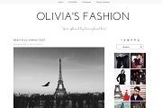 WordPress Theme - Olivia's Fashion