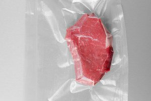 Vacuum sealed fillet steak