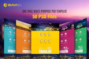 GAVIEN | One Page Multi-Purpose PSD
