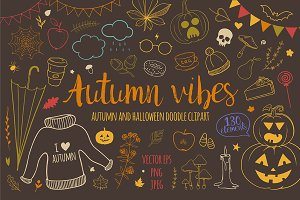 Autumn vibes: fall+halloween doodles