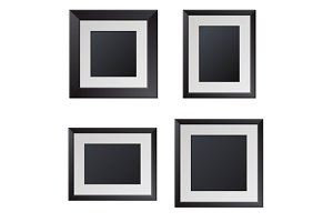 Realistic Picture Frames Set