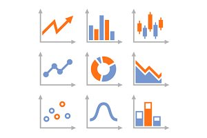 Simple Set of Diagram and Graphs