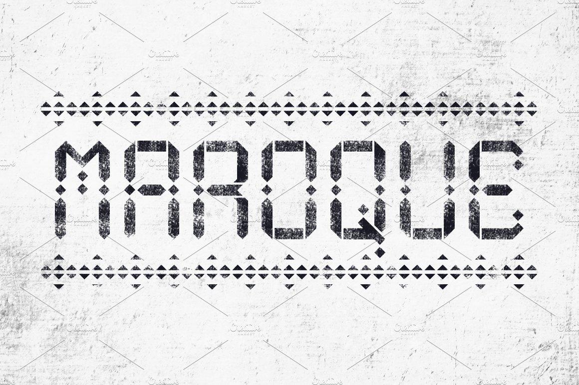 Maroque Stencil Font Display Fonts Creative Market