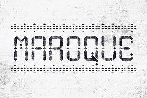 Maroque Stencil Font