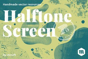Halftone Screen Texture Pack 1.3