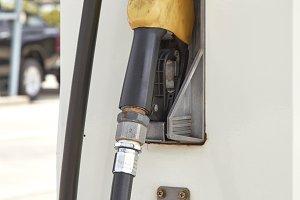 Yellow gas pump