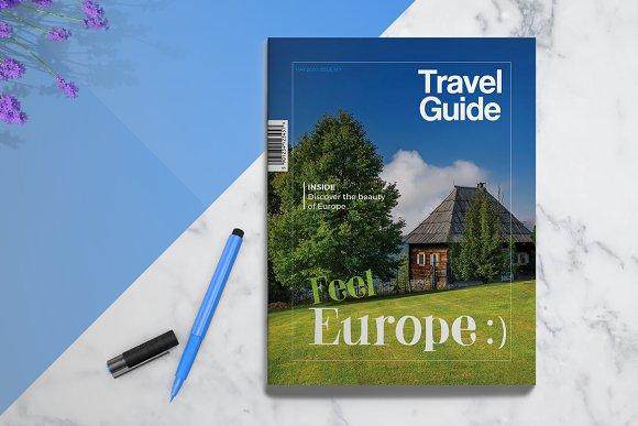 Travel Guide Brochure Templates Creative Market - Travel guide brochure template