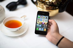 iPhone4 Template, Teapot2