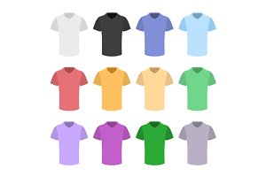 Plain T-shirt Color Template Set